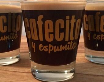 Cafecito Y Espumita shot cup (Set of 3) cuban coffee espresso cafe cubano glass