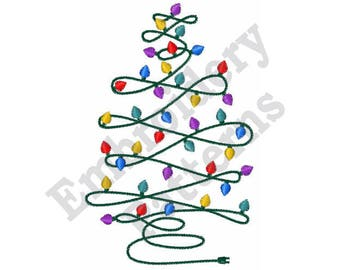 Christmas Tree Lights - Machine Embroidery Design