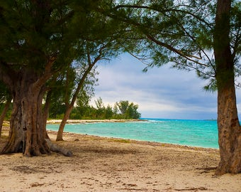 Bahama Beach in the Caribbean Ocean,  - Canvas Gallery Wrap