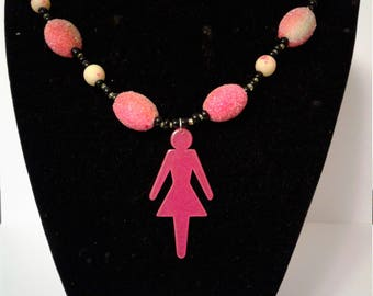 Neon Lady Outine Necklace