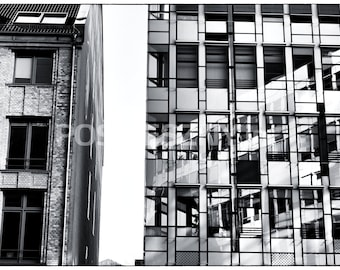 Architecture photo , Black and White, Windows Berlin, photography prints, photography, architecture photography,