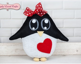 Perfect Gift Personalised Handmade Felt Cute Kawaii Penguin Plush Toy