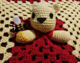 Baby bear and his friend Buzz baby blanket, lovey