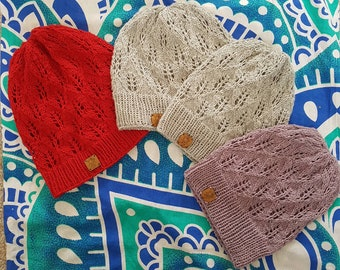 Spring/summer lace hat, kids, girls, women beanie. Made to order