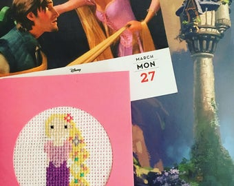 Rapunzel Cross Stitch card