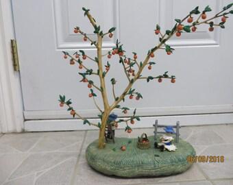 Orange Blossom on basis of ceramic tree