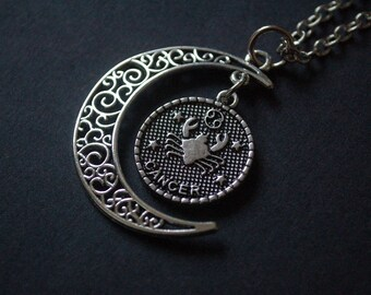 Moon Astrology cancer necklace