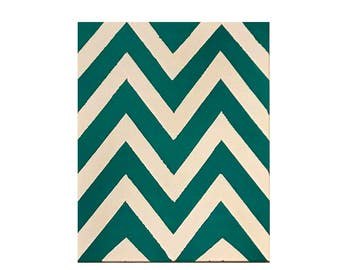 Hand Painted Chevron Canvas