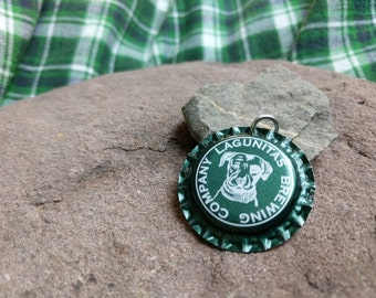 Bottle Cap Pendant - Lagunitas Brewing Co. (Green)