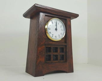 Mission / Stickley Style Craftsman Mantle Clock