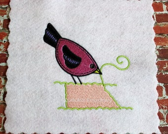 Machine Embroidery Sewing Bird