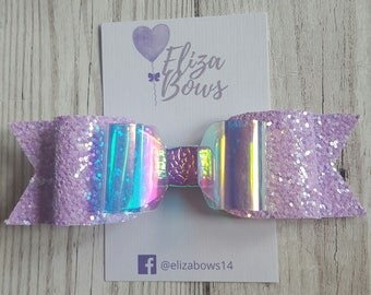 Iridescent pink bow, iridescent glitter, hair bows, iridescent hair bow, glitter hair bow, pink hair clip, iridescent sparkle, pink bows