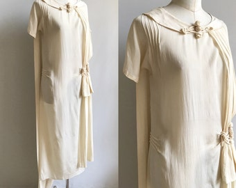 1920's Silk Wedding Gown