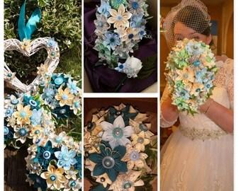 Bridal tear drop bouquets