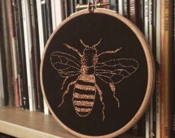 Copper Bee Embroidery Hoop