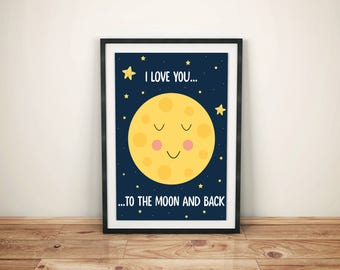 I love you to the moon and back - printable