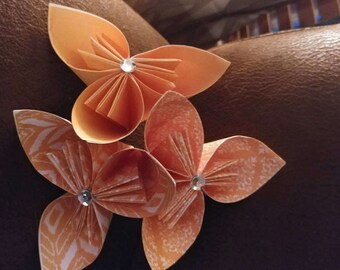 Paper Flowers/Origami Flowers Shades or Orange