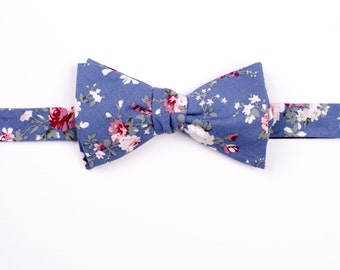 Fly floral, blue pink