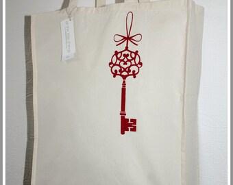 Red Key Organic Cotton Shopper Bag (Large)