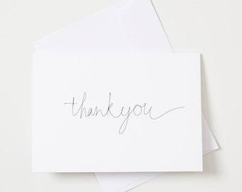 Greeting Card - Script / Thank you