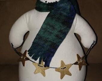 Plush Snowman Holiday Table/Shelf Decorative Sitter