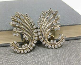 Fabulous Rhinestone Clip On Earrings