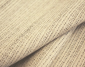 Oat Mottled Woven Fabric