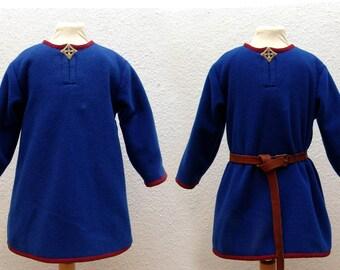 Tunic, wool, linen, medieval, Viking, RUS, Slaven, reenact, LARP, children, Gr. 92