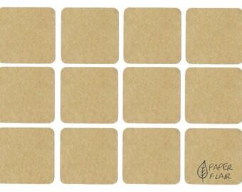 24 stickers kraft paper (AP-13)
