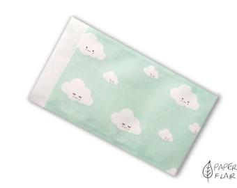 10 paper bags clouds (K-10)