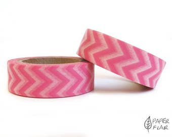 Washi tape Chevron pink/white (PY-821)