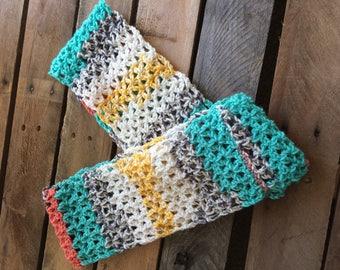 Women's crochet infinity scarf, crochet scarf, light scarf, crochet infinity scarf, colorful scarf