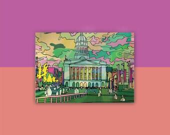 Nottingham City Council Building / Market Square Postcard