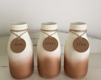 Ombre milk bottle
