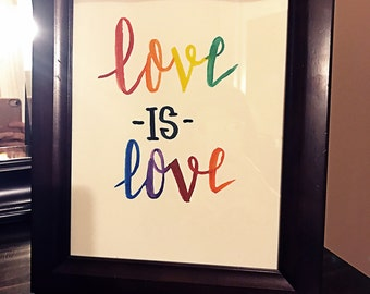 Hand Painted Love is Love Sign