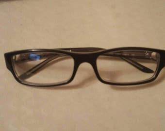 New Authentic Chanel 3105 c.853 Black/Violet 53mm Frames Eyeglasses RX Italy