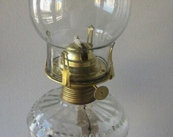 Clear Glass Kerosene Oil Lamp Sunflower Model (w/chimney)