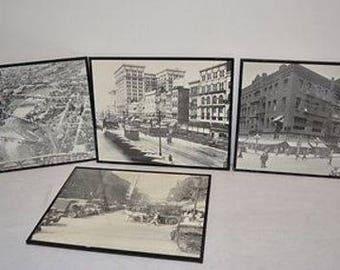 4 Old Framed Black and White Photographs 20x16