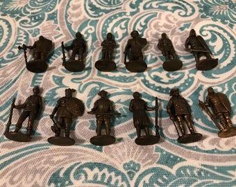 12 Mini Brass Shield of Dreams Figures