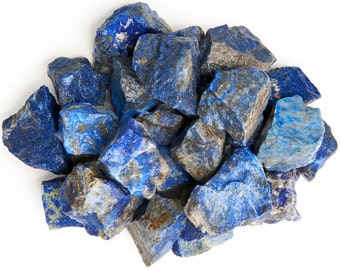 Digging Dolls: 1 lb Lapis Lazuli Rough Rocks from Afghanistan - Raw Natural Stones