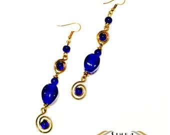 Blue Iris Earrings