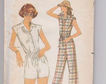 Butterick 5471 / Misses' Jumpsuit / Size 16 / 70's Vintage Sewing Pattern
