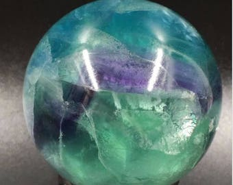 48mm Natural Fluorite Sphere + stand
