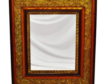 Beautiful Antique Gesso Framed Mirror Remarkable Condition