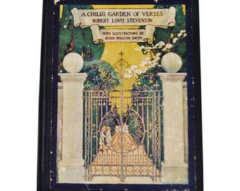 1905 A Child's Garden Of Verses by Robert Louis Stevenson Illustrated Hardcover Book