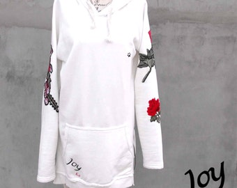Love - Women Long Hooded Casual Top/Dress