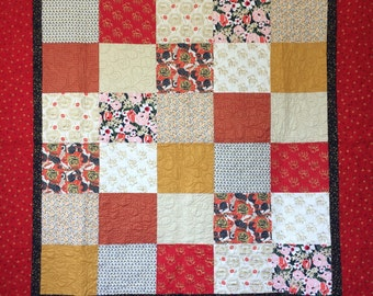 Red and Gold Asian Quilt