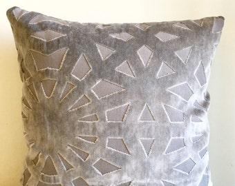 Grey Velvet Pillow Cover, Pillow Velvet, 18X18 Grey Pillow, Designer Pillow, Velvet Pillows, Velvet Cushion Covers, Grey Sofa Pillow Covers