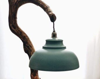 Amazing shaped natural wood lamp stand