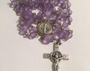 Purple Arylic Rosary